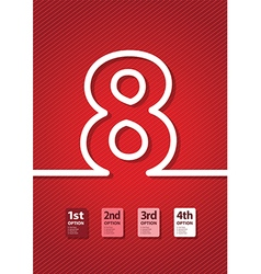 Red number vector