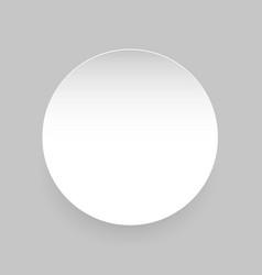 Round empty blank label sticker vector