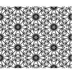 Seamless abstract beautiful floral pattern vector