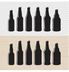 Set of textured craft beer bottle label designs vector