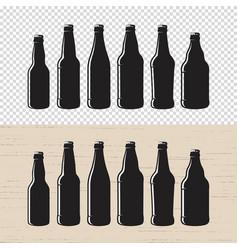 set textured craft beer bottle label designs vector image