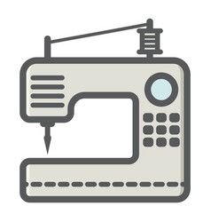 sewing machine colorful line icon household vector image