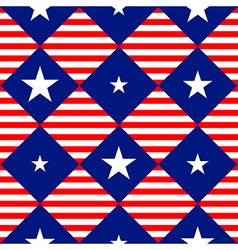Stars Stripe USA Flag Diamond Chessboard vector