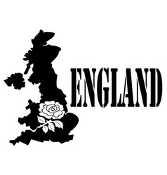 symbol of england and map vector image