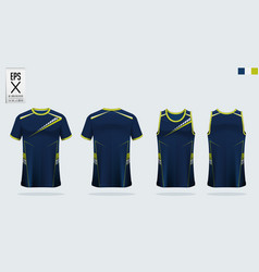 t-shirt sport mockup template design vector image