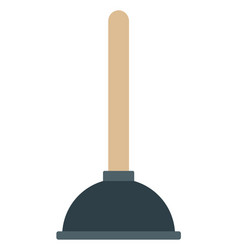 toilet plunger icon flat isolated vector image