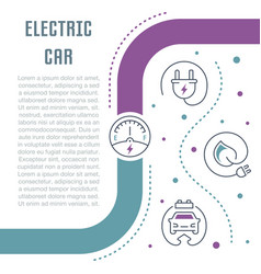 Website banner and landing page electric car vector