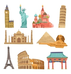 World Landmarks Set vector image