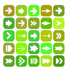 icon set with arrows vector image vector image