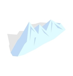 Snowy mountains icon isometric 3d style vector