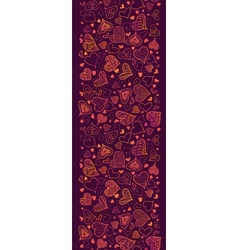 Valentines Day Hearts Vertical Seamless Pattern vector image vector image