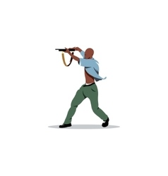 African man with gun Street crime and a threat to vector image