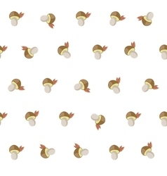 cute cartoon autumn pattern with white mushrooms vector image vector image