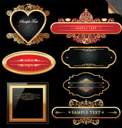 decorative ornate golden frames vector image vector image