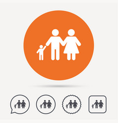 family icon father mother and child sign vector image