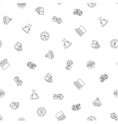 gambling hand drawn seamless pattern background vector image