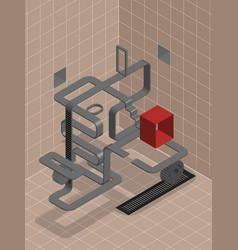Labyrinth look for a way vector