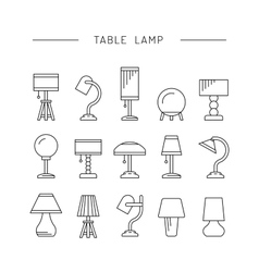 set table lamp vector image vector image