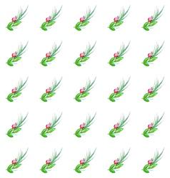 Watercolor seamless wedding pattern vector image vector image