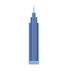 blue skyscraper cartoon vector image