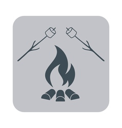 Fire and zephyr icon vector