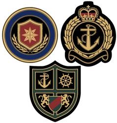 sail anchor emblem badge vector image vector image