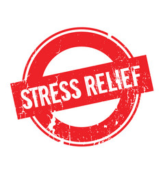 Stress relief rubber stamp vector