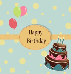 Birthday Template greeting card vector image vector image