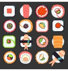 Japanese food sushi vector image