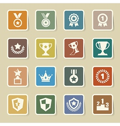 Trophy and awards icons set eps10 vector image vector image