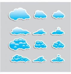 universal icons clouds set vector image vector image