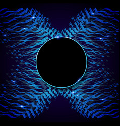 Wave moving blue vector