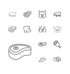 13 ham icons vector