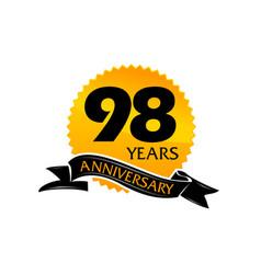 98 years ribbon anniversary vector