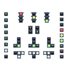 A set of traffic lights vector