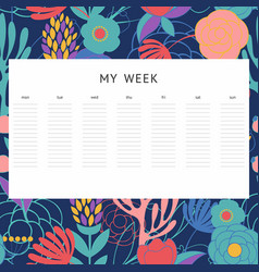 A week decorative background notes vector
