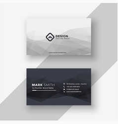 Abstract black and white business card vector