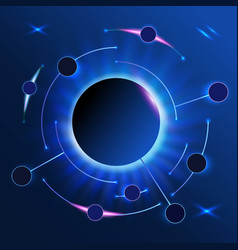 abstract infographics round line on dark vector image