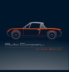 Abstract retro sport car design vector