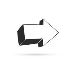 arrow draw doodle brush sketch cartoon isolated vector image
