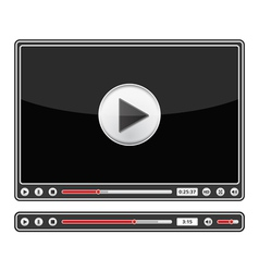 audio and video players vector image