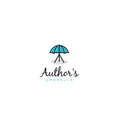 Author umbrella logo design concept vector