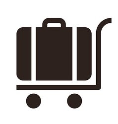 Baggage cart - travel icon vector