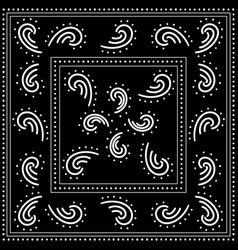 Black and white bandana placement pattern vector
