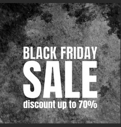 Black friday sale poster with watercolor texture vector