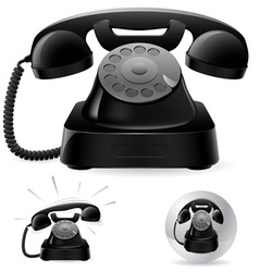 black phone icons vector image