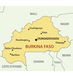 Burkina Faso - map vector image