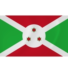 Burundi waving flag vector image