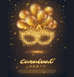 Carnival party poster vector