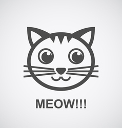 cat logo vector image